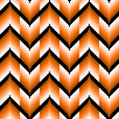 Seamless pattern with orange zigzag elements