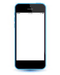 Blue smartphone mockup vector realistic