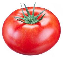 Tomato on a white background.