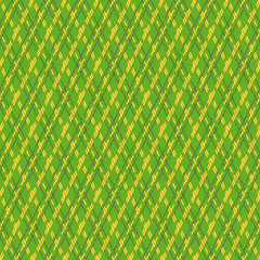 Green and yellow seamless mesh pattern