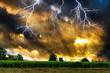 Thunderstorm with lightning.