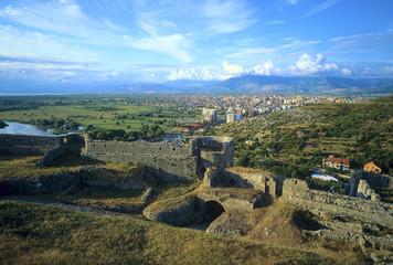 Shkodra vu de la citadelle Rozafa