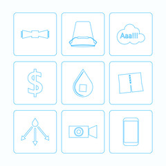 Contour icons for Ice Bucket Challenge
