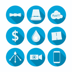 Flat icons for Ice Bucket Challenge