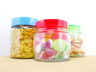 snack inside glass container