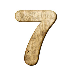 7 Number made from wood