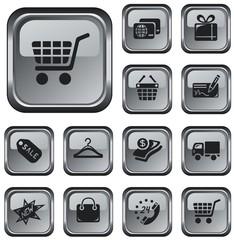 Shopping button set