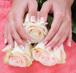 manicure and pedicure body care, spa treatments