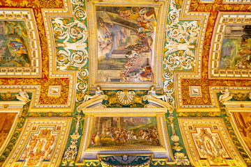 The ceiling in the Geographic gallery of the Vatican Museums