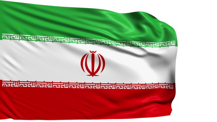 flag of Iran with fabric structure; looping
