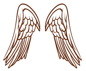 A simple sketch of an angel's wings