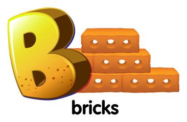 A letter B for bricks