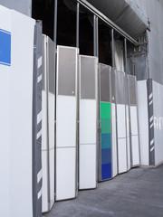 ビル建築現場のゲート