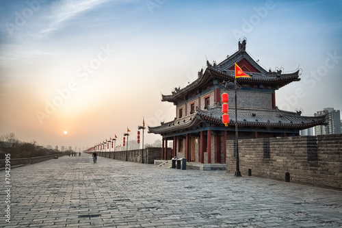 Deurstickers Oude gebouw ancient city of xian