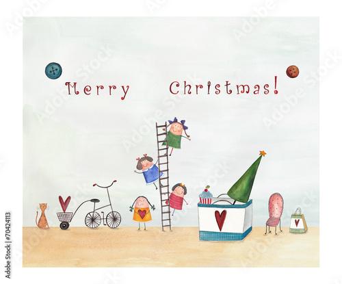 Leinwanddruck Bild Christmas card