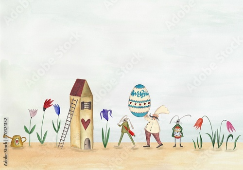 Happy Easter. Greeting card - 70424152