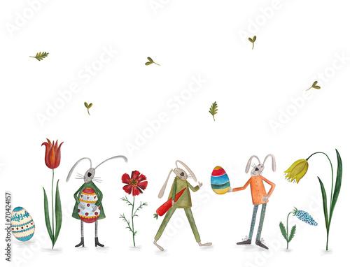 Leinwanddruck Bild Happy Easter. Greeting card