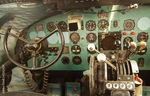 Tuinposter Vliegtuig Kockpit