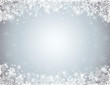 grey background with  frame of snowflakes,  vector - 70424726