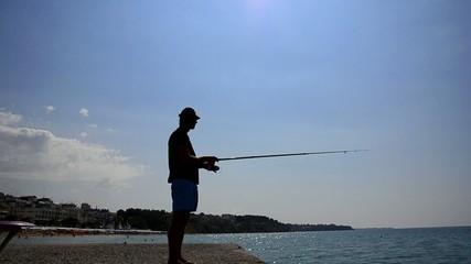 Fly-Fishing at sea horizon