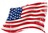 american grunge flag in the win - 70425118