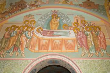 Фрески в церкви Троицы Живоначальной (поселок Троицкий Скит)