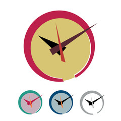Vector sign abstract clock. Flat design