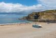 Portreath Beach near Redruth Cornwall England