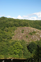 Gorge de la Creuse face au Château de Crozant