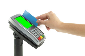 Paying with credit card terminal