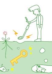 鍵を発見する人