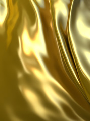 Abstract luxury golden background. Fantasy metallic cloth
