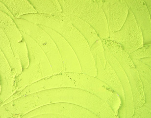 Green plaster wall