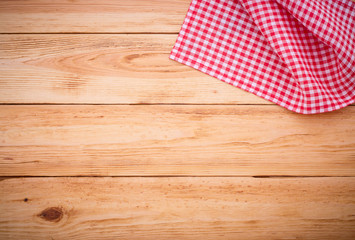 Wooden texture background and tablecloth