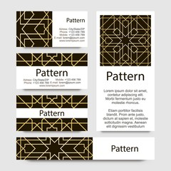 Business cards pattern. Includes seamless pattern