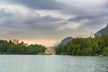 Hohenschwangau village in Bavarian Alps, Germany