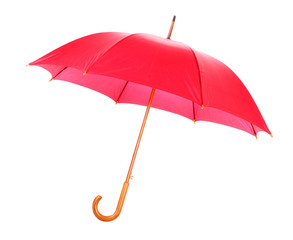 Red umbrella open