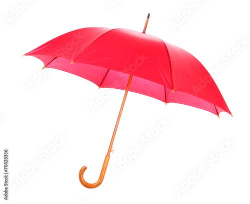 Leinwanddruck Bild Red umbrella open