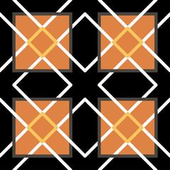 Ornamental triangular and hexagonal morocco seamless pattern.
