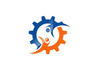 engine,mechanical,logo,gear,team,work,partner,symbol icon