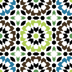 Ornamental round marocco seamless pattern.
