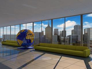 Interior to tourist company