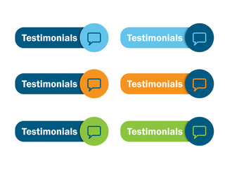TESTIMONIALS Web Button (customer satisfaction experience)