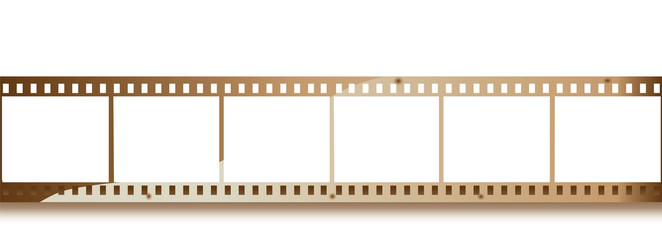 Blank grained film strip