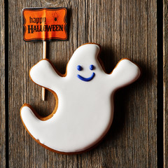 Halloween homemade gingerbread cookie