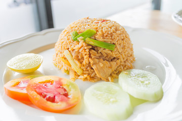 Chilli Rice fried with chicken