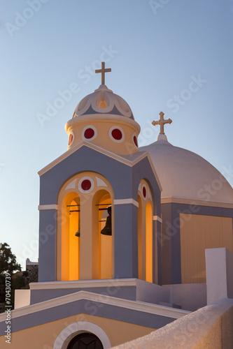 Leinwanddruck Bild Chapel - Fira - Santorini