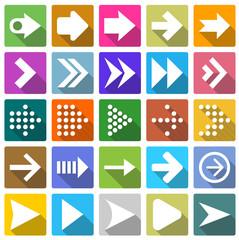 25 arrow icon set .