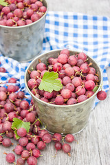 Gooseberries on a table