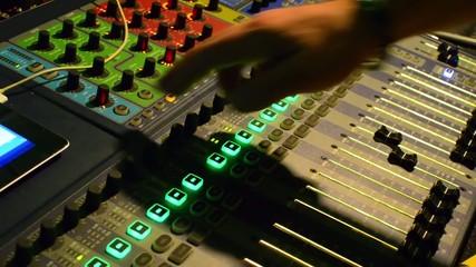 Audio Engineer Working